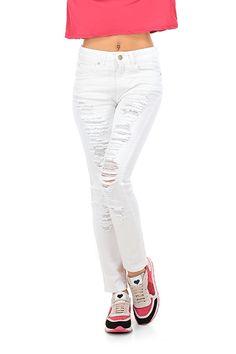 Kocca - Jeans - Abbigliamento - Jeans elasticizzati con dettagli strappati e consumati sulla lunghezza.La nostra modella indossa la taglia /EU 25. - 60001 - € 98.00