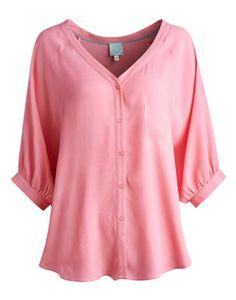 Womens Pale Pink Taffeta Blouse 26