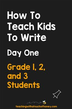 Get your kids writing with fun, engaging activities. These ideas are perfect if you are a parent trying to get your child to write at home or a teacher working in the classroom or through distance learning, Writing Lesson Plans, Writing Lessons, Kids Writing, Teaching Writing, Writing Activities, Teaching Kids, First Grade, Grade 1, How To Teach Kids