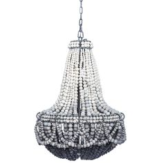 Ombre Black Clay Beaded Chandelier | From a unique collection of antique and modern chandeliers and pendants at https://www.1stdibs.com/furniture/lighting/chandeliers-pendant-lights/