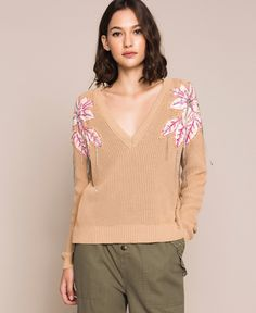Bell Sleeves, Bell Sleeve Top, Pulls, Knitwear, Pullover, Blouse, Long Sleeve, Color Beige, Sweaters