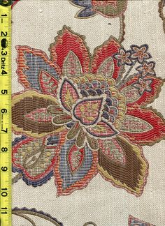 img9643 from LotsOFabric.com! Primary colors in a classic floral pattern. Order swatches online or shop the Fabric Shack Home Decor collection in Waynesville, Ohio. #drapery #bedding #upholstery #furniture #inspo #interiordesign