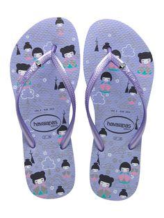 Sweet Kokeshi Havainas. I try not to love flip flops, but I do...