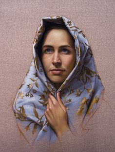 Cuong Nguyen, Portrait Of Amy, pastel on sanded paper,