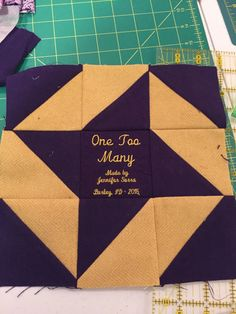 Label for Crown Royal quilt Star Quilt Patterns, Pattern Blocks, Quilting Ideas, Crown Royal Quilt, Crown Royal Bags, Sewing Projects, Projects To Try, Blue Quilts, Quilt Designs