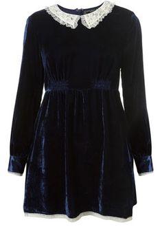 Lace collar mini dress #lolita #kinderwhore #goth