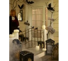 Lit Twig Gate from Pottery Barn, but I think I could make it myself