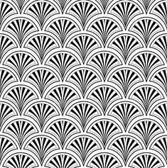 Art Deco fan / scale pattern
