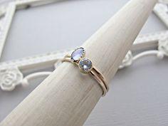 Solid Yellow Gold Ring, 14k Gold Ring, 14kt Gold Ring, Multi Gemstone Ring, Diamond Ring, Purple Stone, Yellow Gold Ring, Gemstone Rings