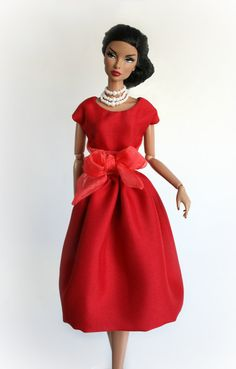 Holiday Dress for Barbie Silkstone Fashion by ChicBarbieDesigns