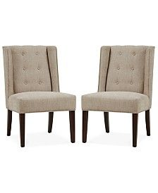 Keene Set of 2 Tufted Armless Dining Chair, Direct Ship