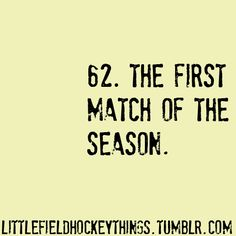 the feeling just before the first match of the season begins >>>>>