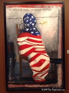 Chicago, Illinois, U.A: Twisted in Protest - Making Sense of English Chicago Illinois, American, Painting, Painting Art, Paintings, Painted Canvas, Drawings