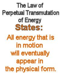 Law of perpetual transmutation of energy. THOUGHTS ARE THINGS!!