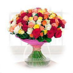 Артикул: 035-302 Состав букета: 101 роза красного, желтого, белого, кораллового и лососевого цвета, оформление Размер: Высота букета 50 см Роза: Выращенная в Украине http://rose.org.ua/bukety-iz-roz/1559-buket-mozajka.html #букеты #букетроз #доставкацветов #RoseLife #flowers #SendFlowers #купитьрозы #заказатьрозы #розыпоштучно #доставкацветовкиев #доставкацветовукраина #срочнаядоставка #заказатьрозыкиев
