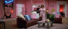 Demi Moore's pink #StElmosFire apartment with the #BillyIdol mural...why on Earth can't I have this?