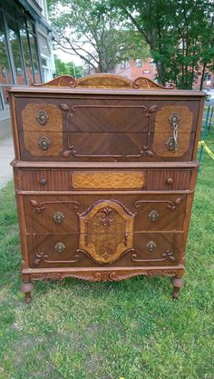Just sold this beauty!! Check out this item in my Etsy shop https://www.etsy.com/listing/233707664/hold-vintage-ornate-wood-tall-dresser