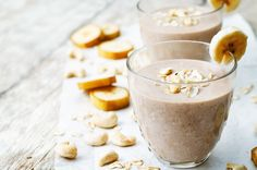 Delicious smoothie recipes at My Nutrition Advisor. Make healthy superfood smoothies recipes that target your health goals. Check out the more than 50 healthy smoothie recipes. Banana Oat Smoothie, Banana Oats, Oatmeal Smoothies, Yummy Smoothies, Smoothie Recipes, Superfood Smoothies, Coconut Smoothie, Smoothies Banane, Nutribullet Recipes