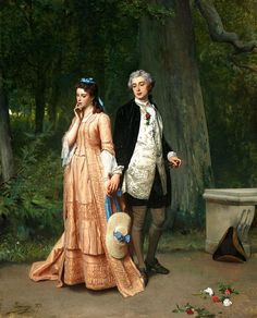 Auguste Serrure The Meeting - The Largest Art reproductions Center In Our website. Low Wholesale Prices Great Pricing Quality Hand paintings for saleAuguste Serrure Romantic Paintings, Classic Paintings, Victorian Paintings, Victorian Art, Art Ancien, Art Gallery, Images Vintage, Auguste, Classical Art