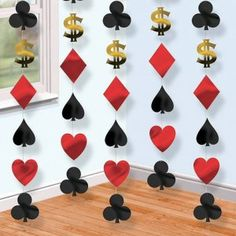 Pack of 6 String Casino Party Decorations. Measures approximately 213cm (6.9ft) long. Only £2.20