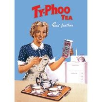 Gorgeous original advert for Ty-phoo tea! Typhoo, Tea Storage, Coffee Tin, Tea Design, Tea Tins, Tea Towels, Retro Vintage, Lunch Box, Britain