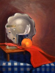 "•SOLD• ""Trapped"" 18""x24"" Oil on canvas. #StillLife #oilpaint #fineart www.Facebook.com/ChristinaGrachekArt"