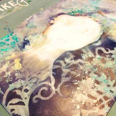 Work in layers cover what's not working keep going. The worst that could happen? I destroy the paper and bin it. The best I create art I love. Nothing is sacred sometimes you have to cover things you like to move forward. Do t worry you will always know they are there.  #keeppainting #layers #mixedmediaart #mixedmedia  #lifebook2016 #inkypawsart