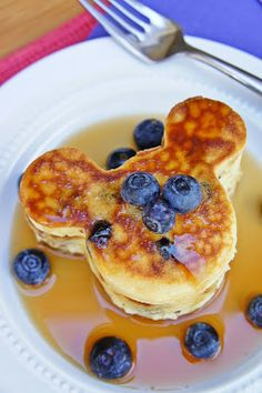 Mickey Mouse Blueberry Pancakes ~ The Kitchen Life of a Navy Wife