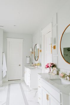 A br and lucite towel holder lines a gl and marble shower ... Shower Design House Hardware E A on