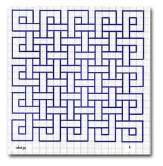 Celtic knot style geometric square template