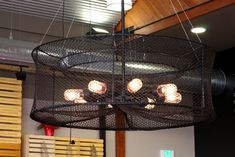 Crab Trap Light Fixture at Santa Monica Seafood | Flickr - Photo Sharing! #SimpleFurnitureIdeas
