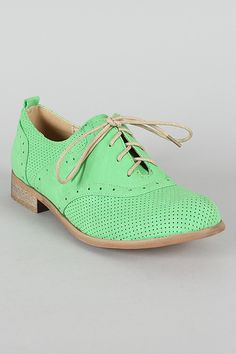 Alexis-01 Lace Up Round Toe Oxford Flat- $25.80