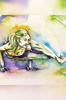 How to add charcoal to negative watercolour yoga paintings for deeper shadows - the art of flying Aerial Classes, Yoga Painting, Watercolor Paintings, Original Paintings, Pastel Pencils, Chalk Pastels, Brush Pen, New Artists, Diy Art