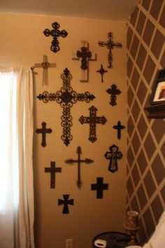 Wall Decor Crosses cross collection - looks like my wall of crosses! ms | lovely