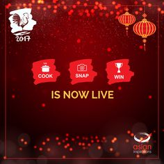The much awaited Chinese New Year Contest: Cook, Snap, Win is now Live! :)  To participate, click here: http://bit.ly/2017CookSnapWin Start cooking, today!