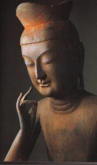 "Miroku Bosatsu, Koryu-ji Temple The wooden statue of Miroku Bosatsu, one of the treasures of Koryu-ji Temple, Japan. The Miroku Bosatsu is also known as the ""Buddha of the future"" who would lead people on the road to Enlightenment. Lotus Buddha, Art Buddha, Buddha Kunst, Buddha Buddhism, Buddha Sculpture, Sculpture Art, Japanese Culture, Japanese Art, Miroku"