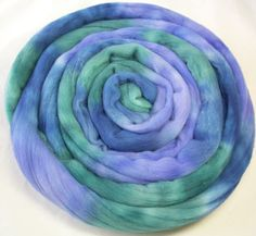 Hand Dyed Spinning Fiber Rambouillet Top Roving  by KnittingKnorth, $15.20