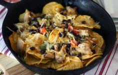 Six-Ingredient Chicken Fajita Nachos