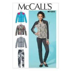 McCalls-Ladies-Easy-Sewing-Pattern-7293-Jacket-amp-Pants-Tracksuit-McCalls