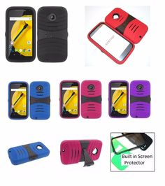 Rugged Phone Case with BUILT in Screen for Motorola Moto E (2nd Gen) / XT1527 #Motorola