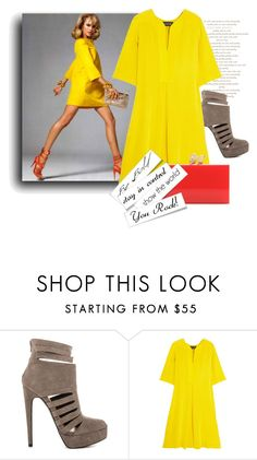 """Be Bold"" by the-house-of-kasin ❤ liked on Polyvore featuring JustFab, Saloni and Charlotte Olympia"