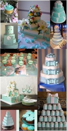 love the ribbons on these cakes!