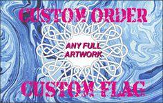 custom flag made to order size 3ftX5ft 1 ply flag by customflag