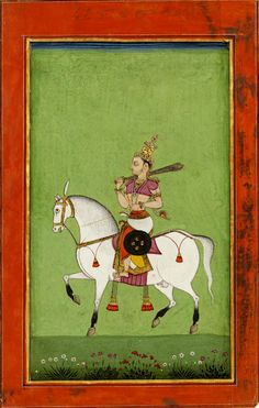 Kalki avatar, opaque watercolour on paper, Eastern Deccan, possibly Machilipatnam, ca. 1780.
