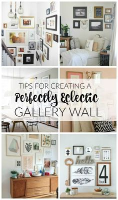 AWESOME tips and INSPIRATION for creating the perfect eclectic gallery wall!  Little House of Four
