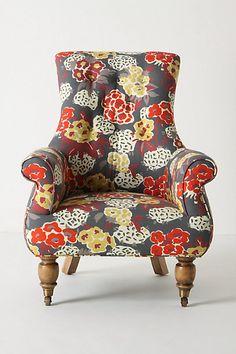 pretty floral chair