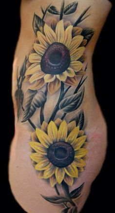 sunflower tattoo - 45 Inspirational Sunflower Tattoos  <3 !