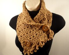 Crochet Scarf Cowl With Fringe Lightweight  by VillaYarnDesigns, $25.00