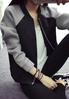 This is gonna be my Bomber jacket look this fall! Comfortable, casual, and warm.