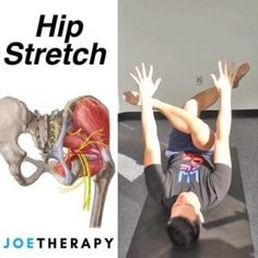 Love This Hip Stretch! - ☝️Share this with a friend with tight hips! - This is an awesome hip stretch and you can do it just chillin… Back Yoga Stretches, Stretches Before Workout, Sciatica Stretches, Stretches For Flexibility, Back Pain Exercises, Stretching Exercises, Psoas Release, Hip Mobility, Tight Hip Flexors